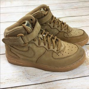 Nike Air Force 1 mid sneakers in flax - youth 1